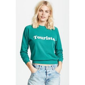 NWT Wildfox Tourista Sweatshirt Green XS